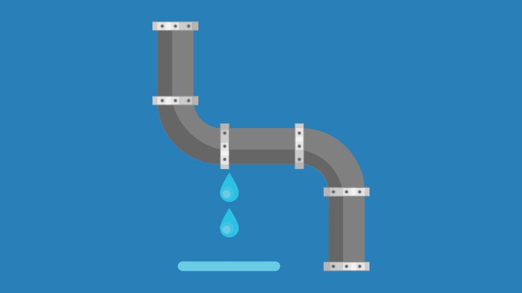 Broken Pipe Leaking Water