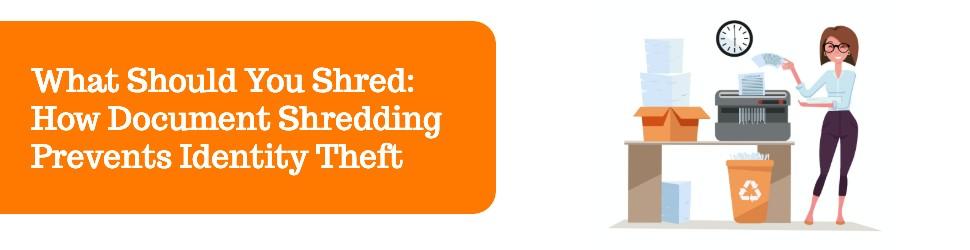 Document shredding to prevent identity theft